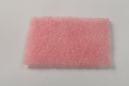 Glass Cleaning Felt / Scrub - pink