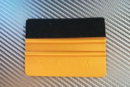 3 M Foil applicator with ribs and black felt - gold