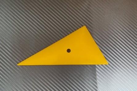 Film applicator triangular, yellow