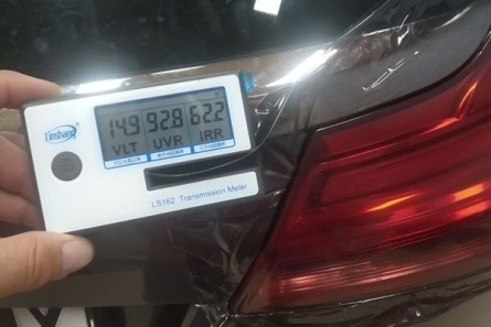 Protective tinted headlamp film - price excluding VAT / lm.