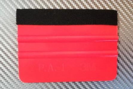 3 М Апликатор за фолио с ребра и черен филц - червен